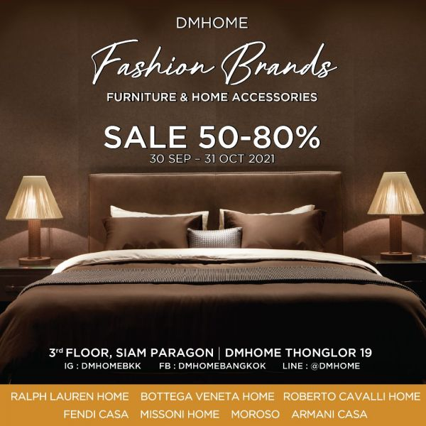 DMHOME FASHION BRANDS SALE 30 SEP – 31 OCT 2021